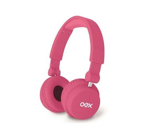 Fone de Ouvido HeadPhone Oex Style com Microfone, HP-103 Rosa - BOX