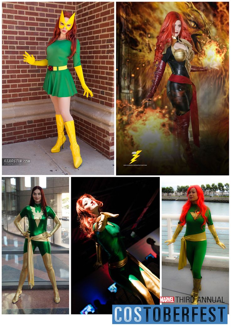 Costoberfest 2013 - Day 07  Welcome to Jean Grey Day! Introducing Kearstin, Tiffany, Stacy, Umister and Elizabeth as the many forms of Jean Grey.  Photos by Angelia Bui, SGH Photo, Chris White and Judy Stephens  Marvel's use of all photos are governed by the Marvel.com Terms of Use and Privacy Policy.