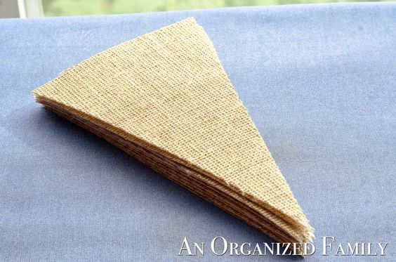 An Organized Family: How To: Make a Burlap Banner