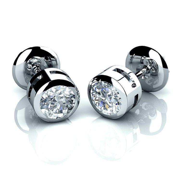Round Diamond Earrings For Men