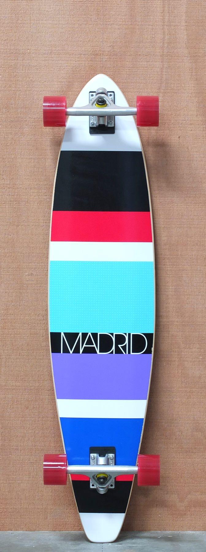 "Madrid 42"" Stripes 2 Longboard Complete"