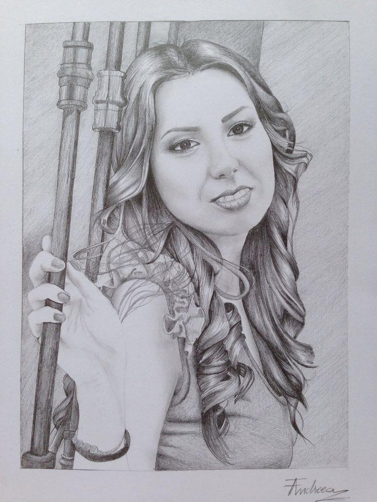 Pencil portrait black&white