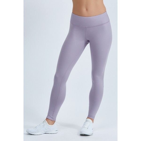 Alo Airbrush Legging ($78) ❤ liked on Polyvore featuring pants, leggings, twilight glossy, wet look pants, shiny leggings, wide-waistband leggings, wetlook leggings and alo leggings