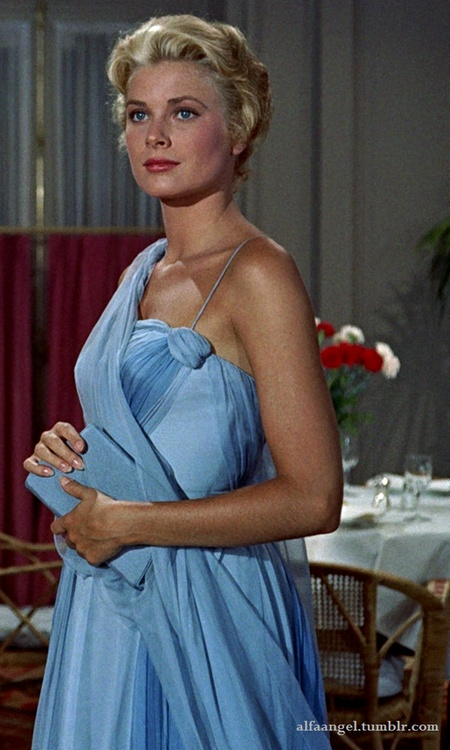 She was just breathtaking....Grace Kelly in Edith Head gown - 'To Catch a Thief'.