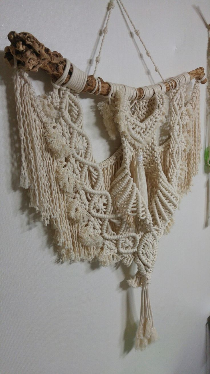 655 best tapices en macram images on pinterest macrame wall hangings weaving and closure weave - Tapices de macrame ...