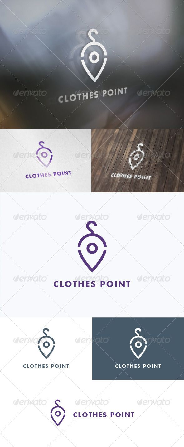 Clothes Point Logo — Photoshop PSD #pin #cmyk • Download here → https://graphicriver.net/item/clothes-point-logo/5646828?ref=pxcr