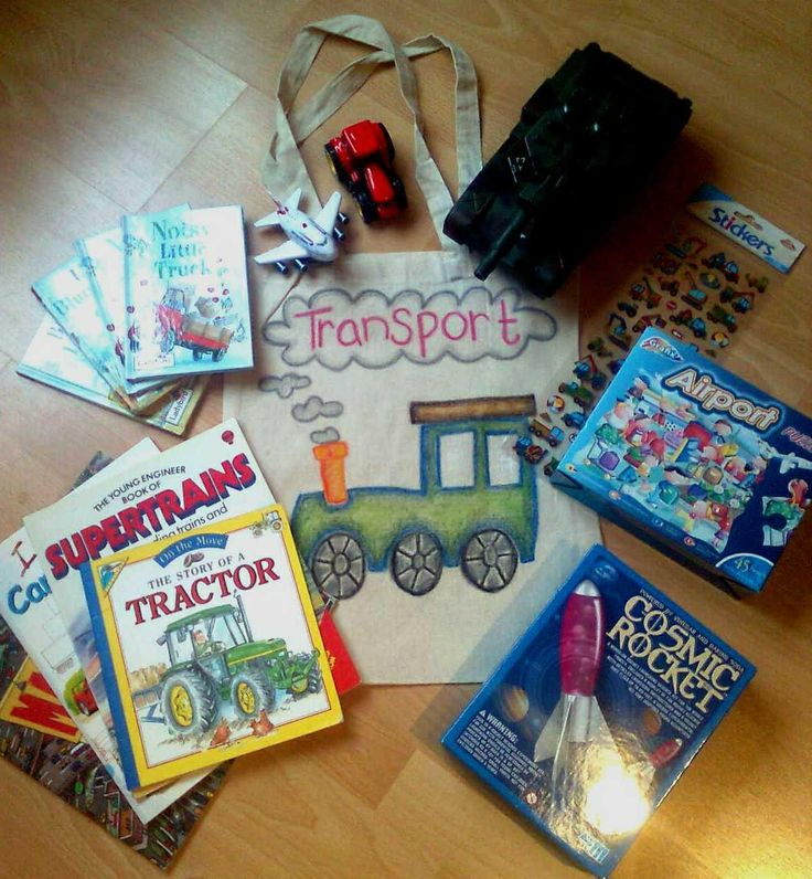 Too much to squeeze into one sack! A variety of different vehicles for use with a collection of stories and non fiction texts on the theme of transport.
