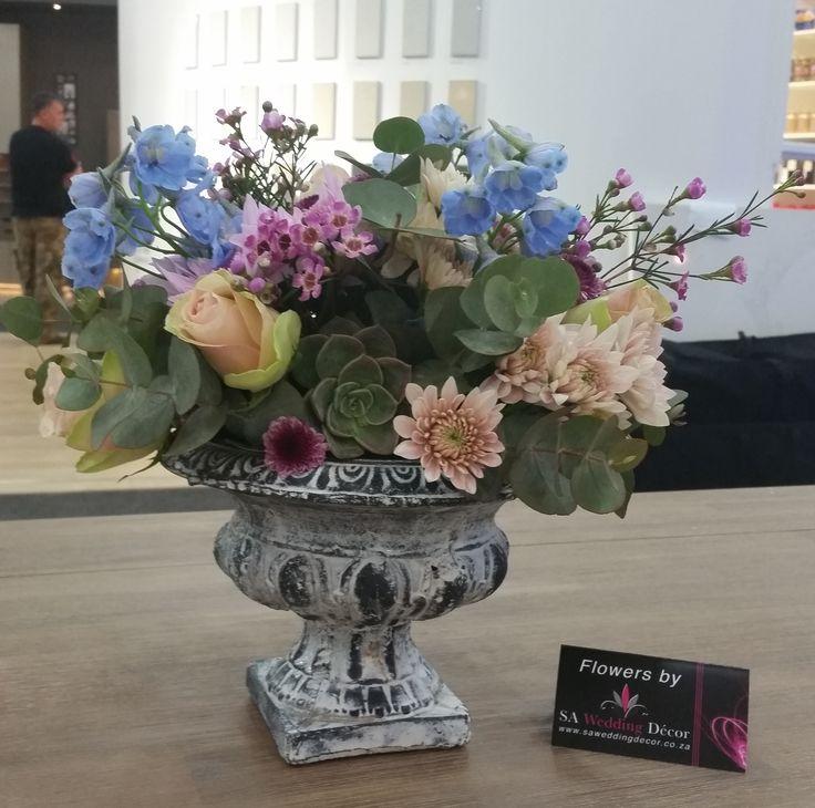 @Decorex2014 Café Chic flower arrangements