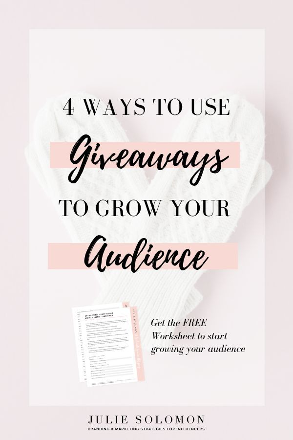 4 Ways You Can Use Giveaways To Grow Your Audience Influencer