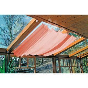 Amazon.de: Windhager Markise / Sonnensegel für Seilspanntechnik, 270x140cm, terracotta