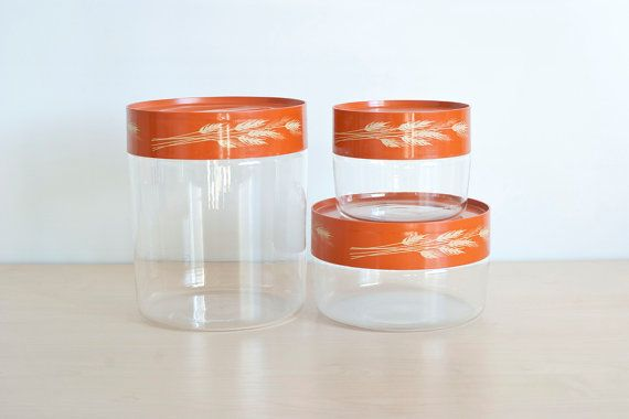 Pyrex Autumn Harvest Wheat Kitchen Canister Set by TheWildWorld