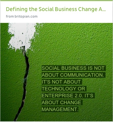 @Michael Brito on defining the transition to #social business