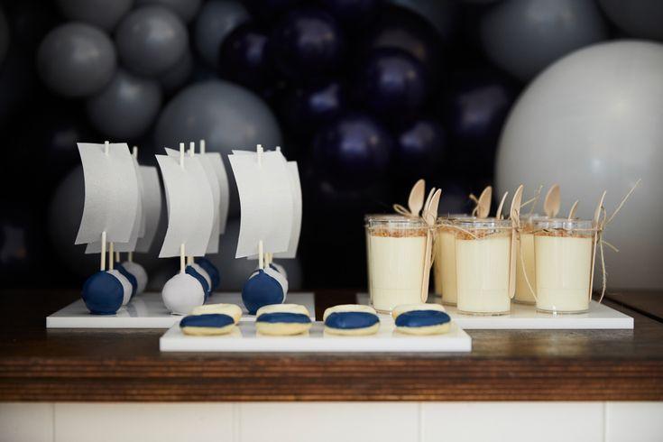 LETTUCE & CO - STYLE. EAT. PLAY - row, row, row, your boat...  nautical themed 1st birthday. sailboat cake pops and nautical mini doughnuts.