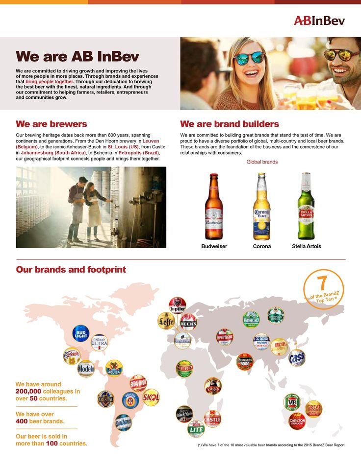 AB InBev Fact Sheet - we are AB InBev