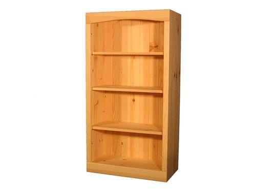 "24""W x 46""H x 10""D Solid Pine Bookcase"