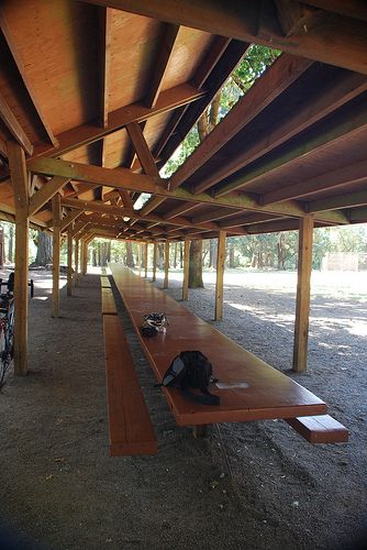Giant Picnic Table At Bellfountain County Park Near