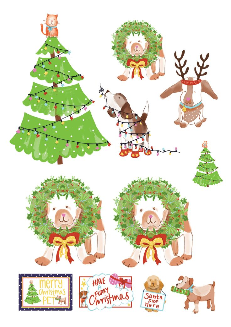 Free festive pet printables – Rolling along