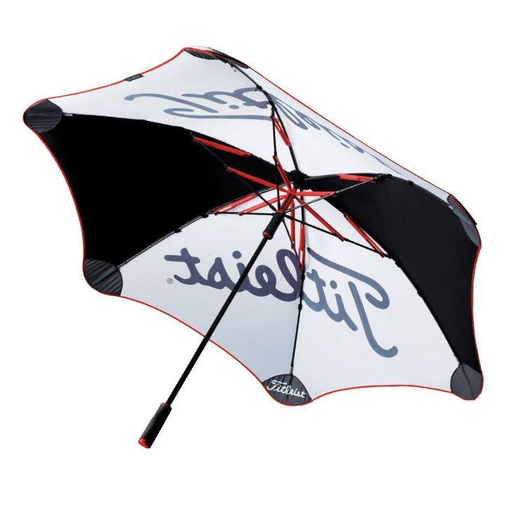 Titleist Premier Golf Umbrella - Black / White - Keep the elements away and focus on your game with Titleist Golf - https://www.foremostgolf.com/titleist-premier-golf-umbrella-black-white