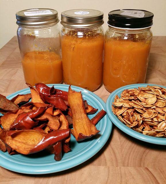 Cascas de Abóbora assadas / Roasted Pumpkin Peel