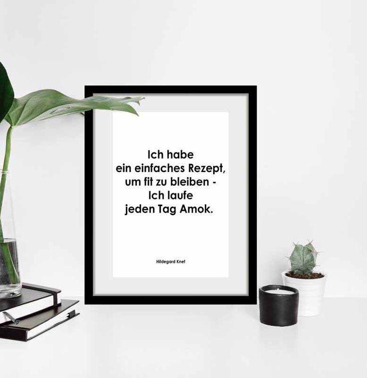 Rahmenbild 'REZEPT FIT ZU BLEIBEN' - Wohndeko schnell & einfach online bestellen bei Lumizil. #wohnen #wohnideen #deko #dekoideen #dekoration #einrichtung #einrichtungsideen #home #living #bild #foto #spruch