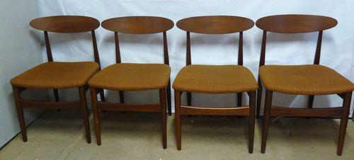 Set of 4 retro teak dining chairs g plan vintage 60s for G plan dining room furniture