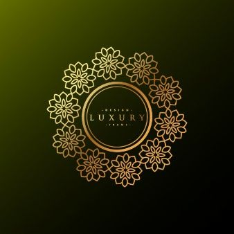 роскошный цветочный логотип