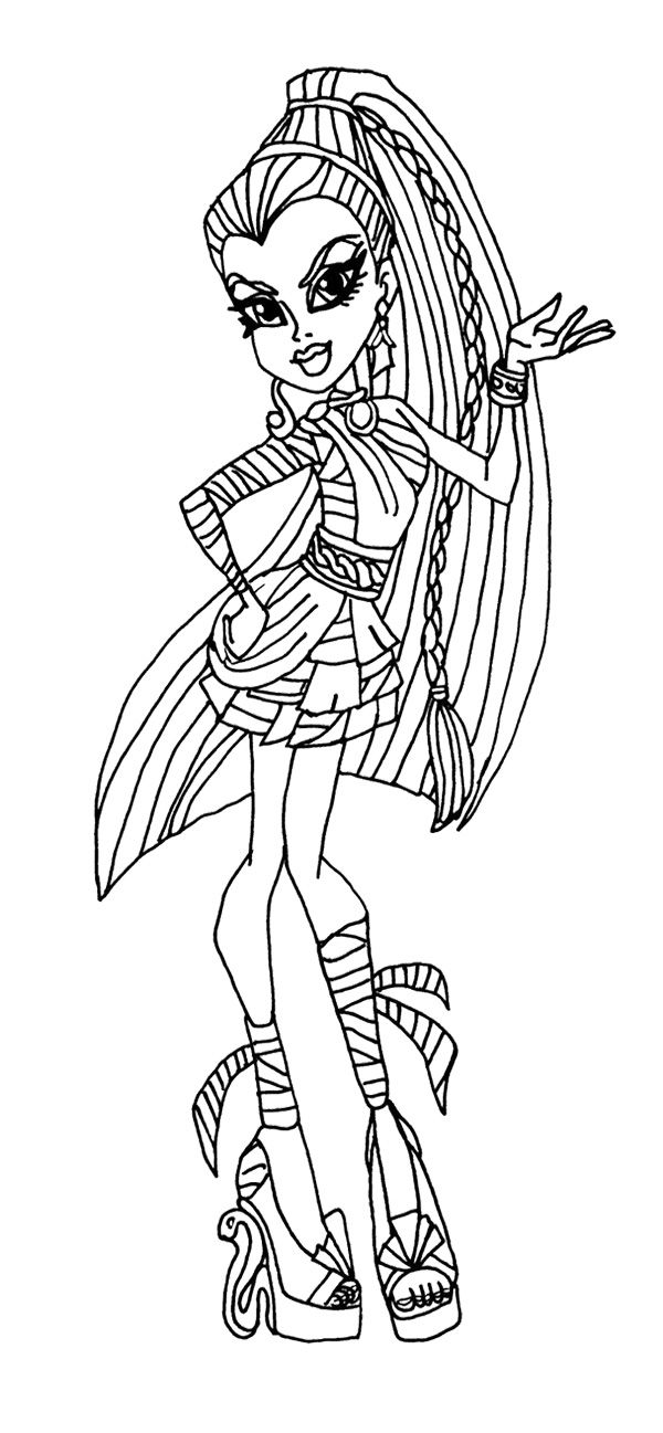 Nefera de nile monster high coloring page