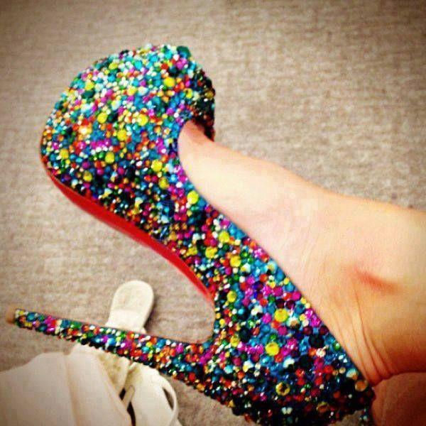 Fashionable Colorful Shining High Heels