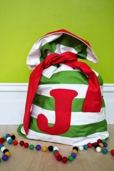 Buttons & Booties: Santa Sack Tutorial