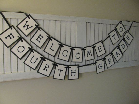 School Grade Level Welcome Back to School Banner by EncoreBanners