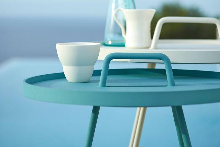 On The Move - Tray Table - Aqua + White
