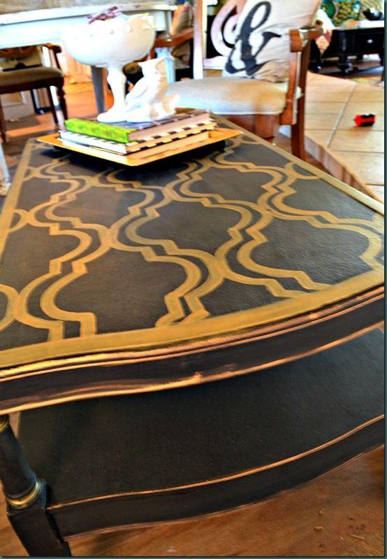 Beckley Coal Painted Coffee Table {Black Painted Furniture}   Refunk My Junk