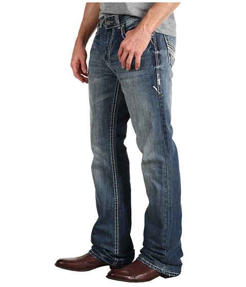 Rock and Roll Cowboy Double Barrel Relax Fit Boot Cut Jeans at Zappos.com