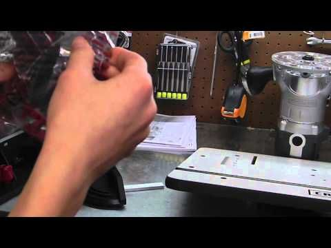 how to use a craftsman router table - YouTube