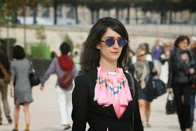 Pink Deer: Statement Piece via pinkdeer.blogspot.com #style #streetstyle #sunglasses