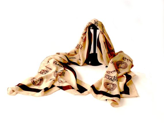 Foulard Gianni VERSACE 1980. Long foulard en par OhInTheShop