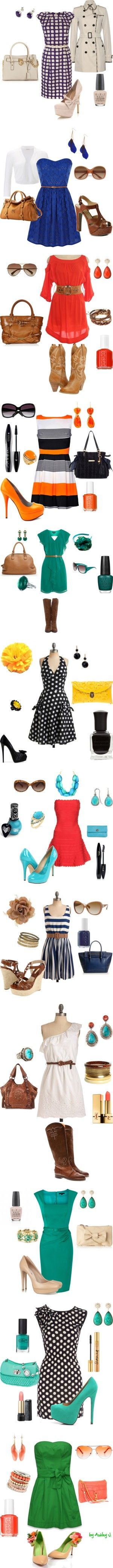 : Cute Dresses Outfits, Colors Combos, Teal Dresses, Cute Outfits, Colors Combinations, 27 Dresses, Outfits Ideas, Orange Outfits, Dressy Outfits