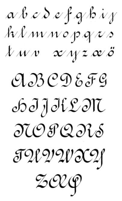 caligrafia ronde redonda