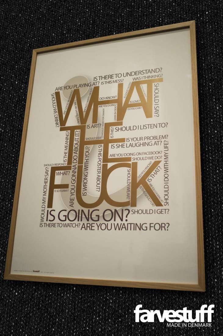 WHAT THE FUCK 50x70cm, farvestuff posters | Cocorico Déco