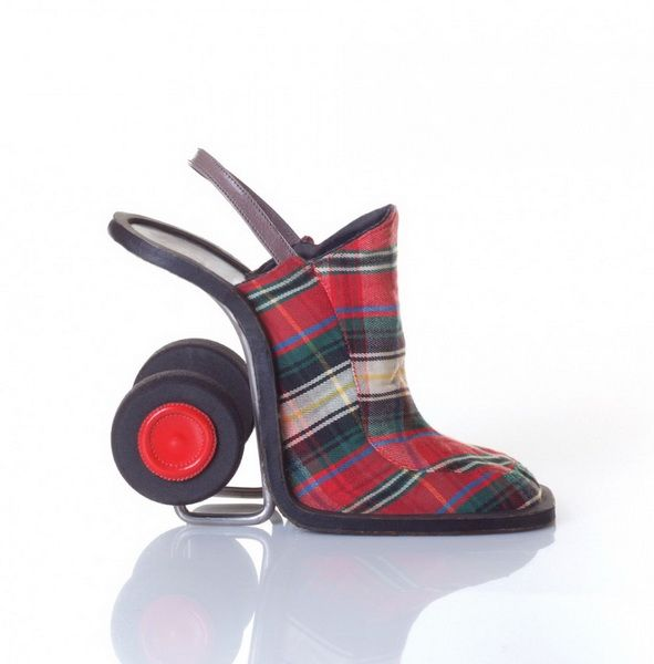Granny Cart inspired shoes?! Are those wheels going to wheel this fashion design away?