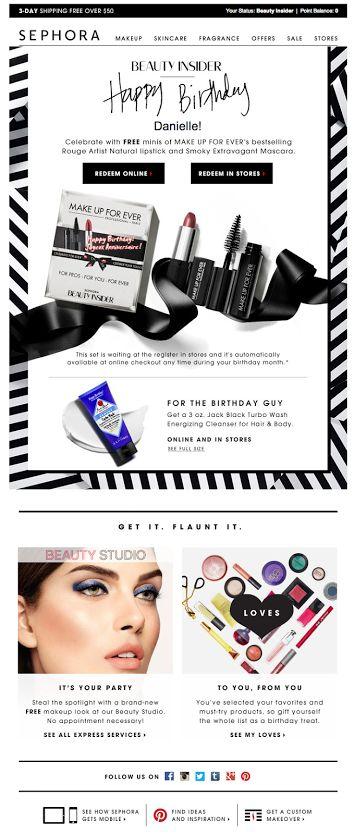 Sephora birthday email SL: Happy (early) birthday! 06/2/2014