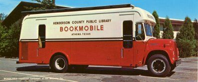 1960s bookmobile, Henderson County (Tex.) Public Library.