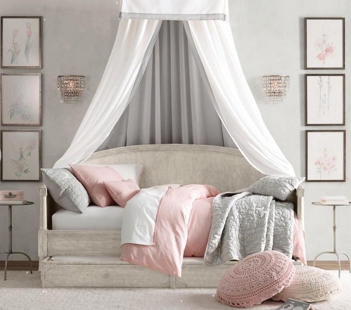 dormitorios romnticos en tonos pastel para chicas