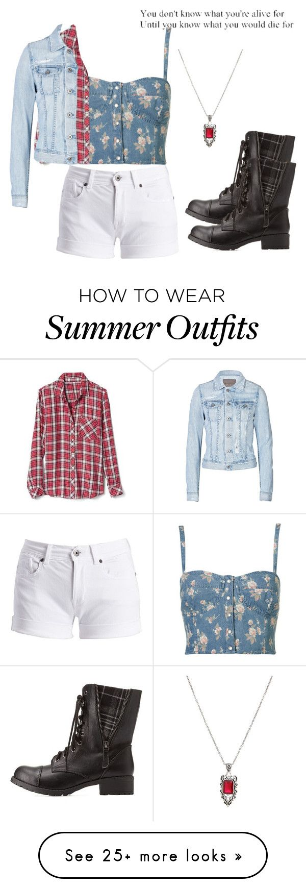 """""""summer outfit 5"""" by alltheducks on Polyvore featuring Barbour International, Gap, AG Adriano Goldschmied, Charlotte Russe and Hot Topic"""