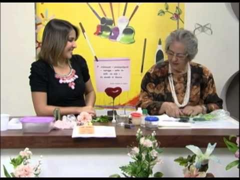 Mulher.com 27/07/2012 Mirian Veiga - Flor peonia em biscuit 02 - YouTube