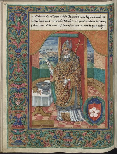 Jan Gruszczyński Archbishop of Gniezno on book illumination before 1535