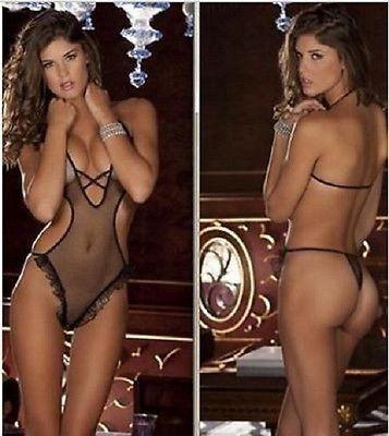1*Sexy Lingerie Women Nightwear Underwear Babydoll Sleepwear lace Dress G-string