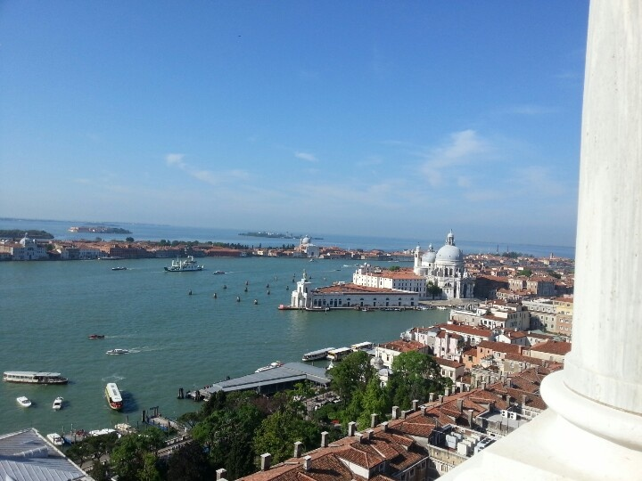 Views of Venice from Bell Tower in St Marks Square