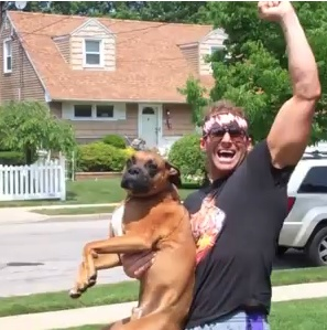 Zack Ryder and his dog #WWE