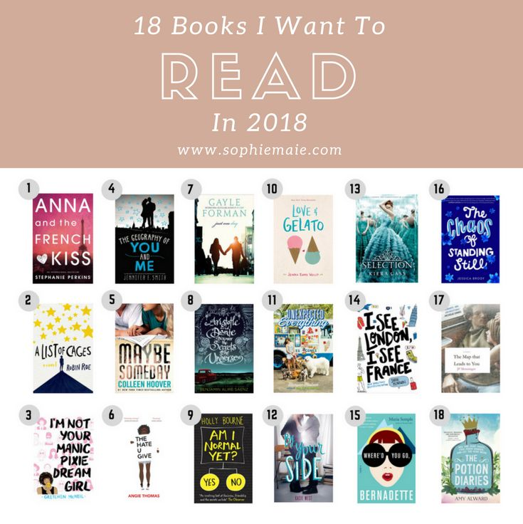 18 Books I Want To Read In 2018 | sophiemaie.com